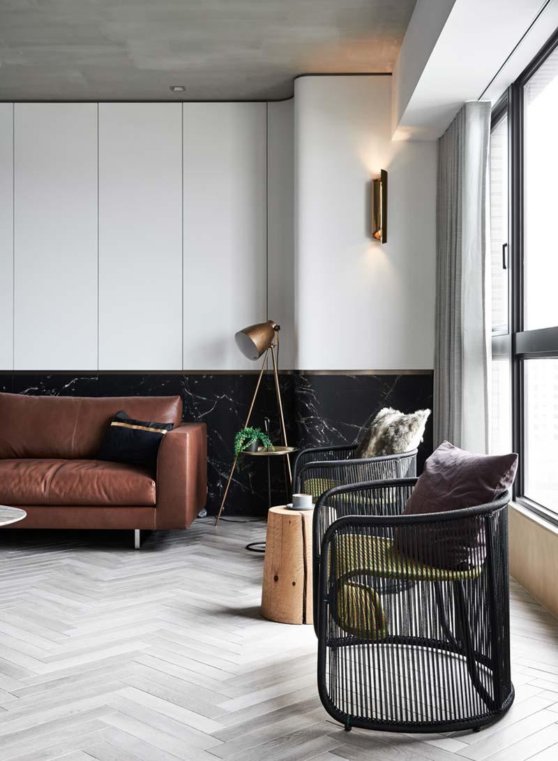 moderne vintage woonkamer