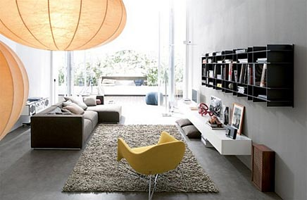 Modern Interieur Woonkamer : Moderne woonkamer van poliform inrichting huis