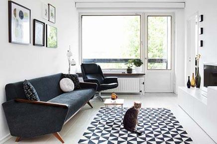 Moderne woonkamer met vintage elementen