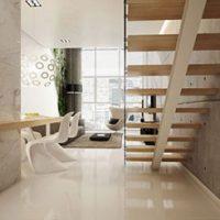 Moderne zwevende trappen