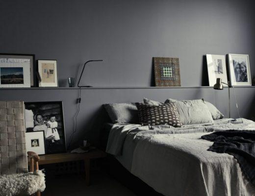 Monochrome slaapkamer van Pia Ulin