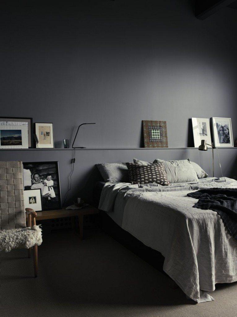 voorbeelden scandinavische slaapkamers : Slaapkamer met een mix van ...
