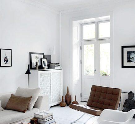 Monochrome woonkamer