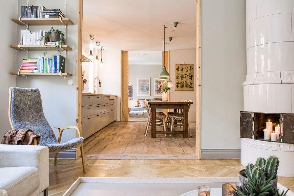 Mooi en gezellig ingericht appartement van Gustaf en Anna