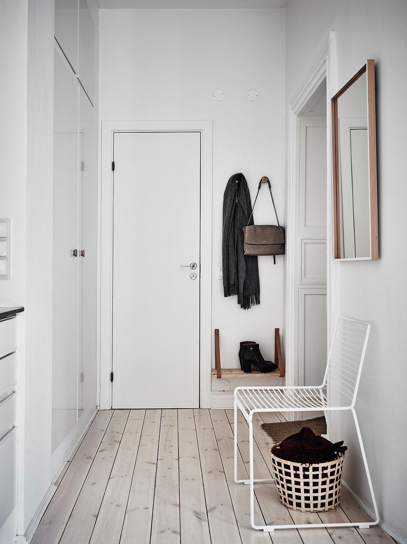 Mooi en klein scandinavisch appartement met groen grijze for Klein appartement design