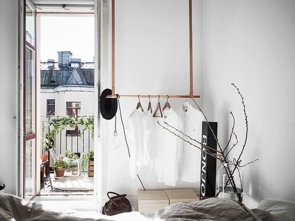 Slaapkamer Groen Grijs : Mooi en klein scandinavisch appartement met groen grijze muren