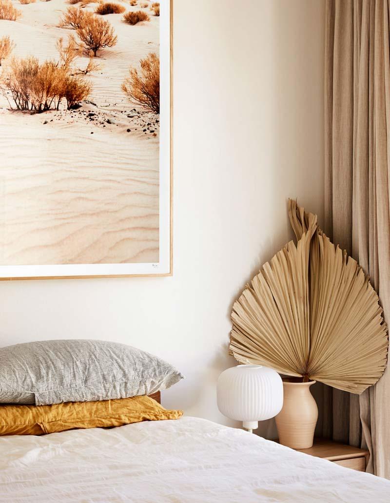 mooi natuurlijk kleurenpalet slaapkamer