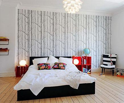 mooi slaapkamer behang inrichting huis