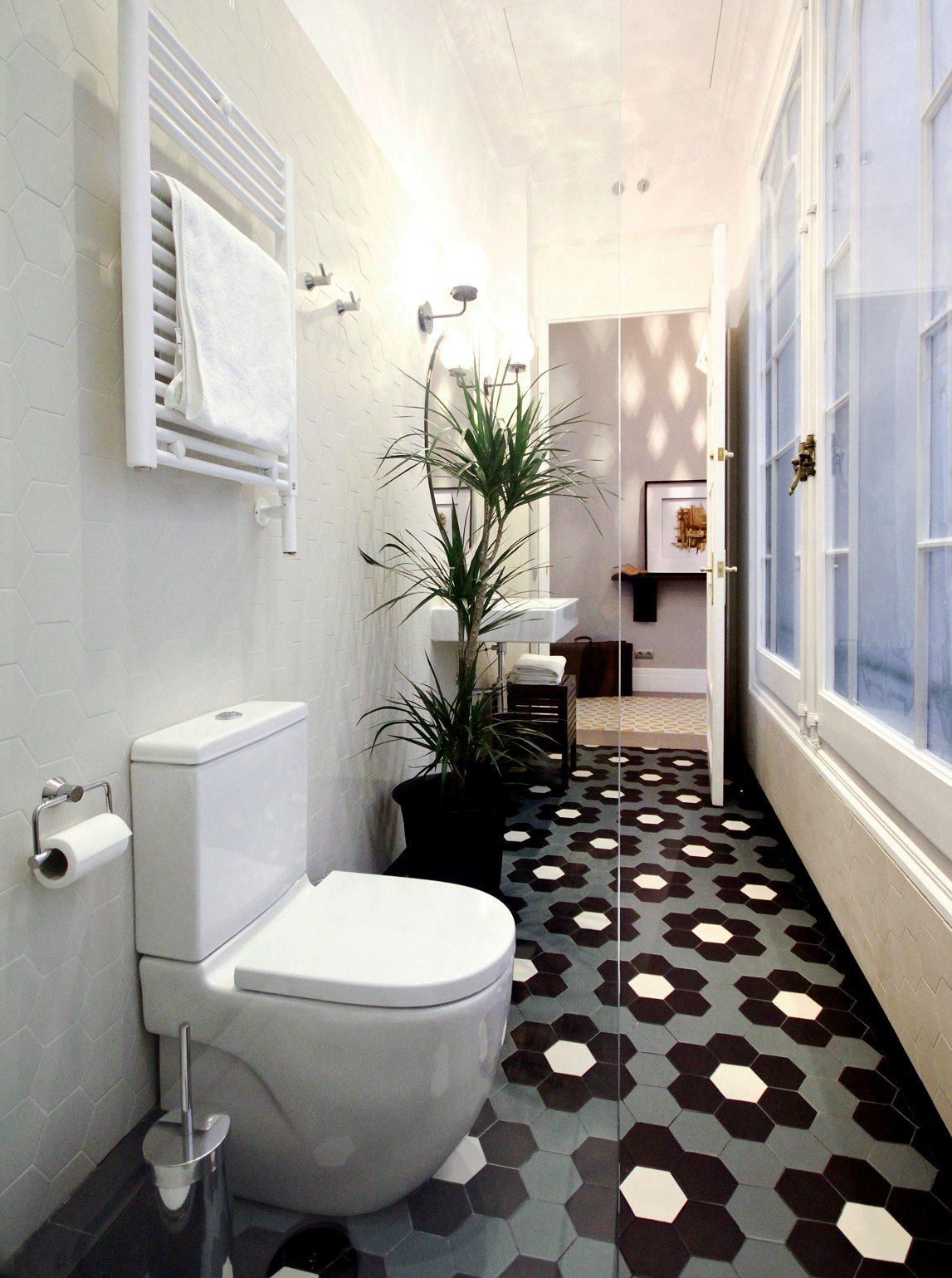 Deze mooie badkamer heeft een retro look gekregen! | Inrichting-huis.com