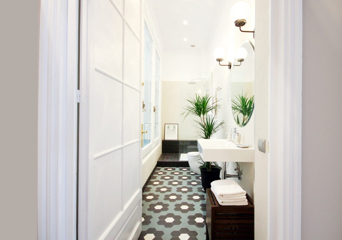 Deze mooie badkamer heeft een retro look gekregen!