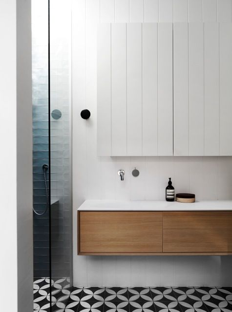 Mooie badkamermeubel met lades