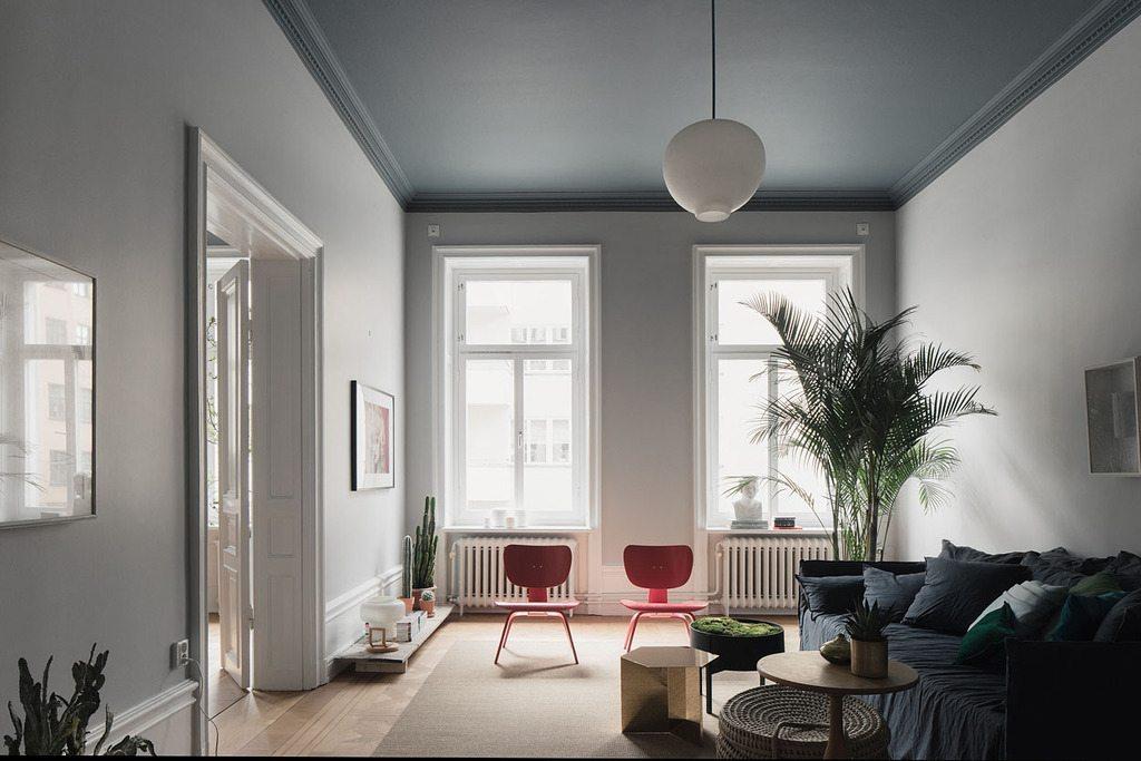 Mooie blauw grijze woonkamer | Inrichting-huis.com