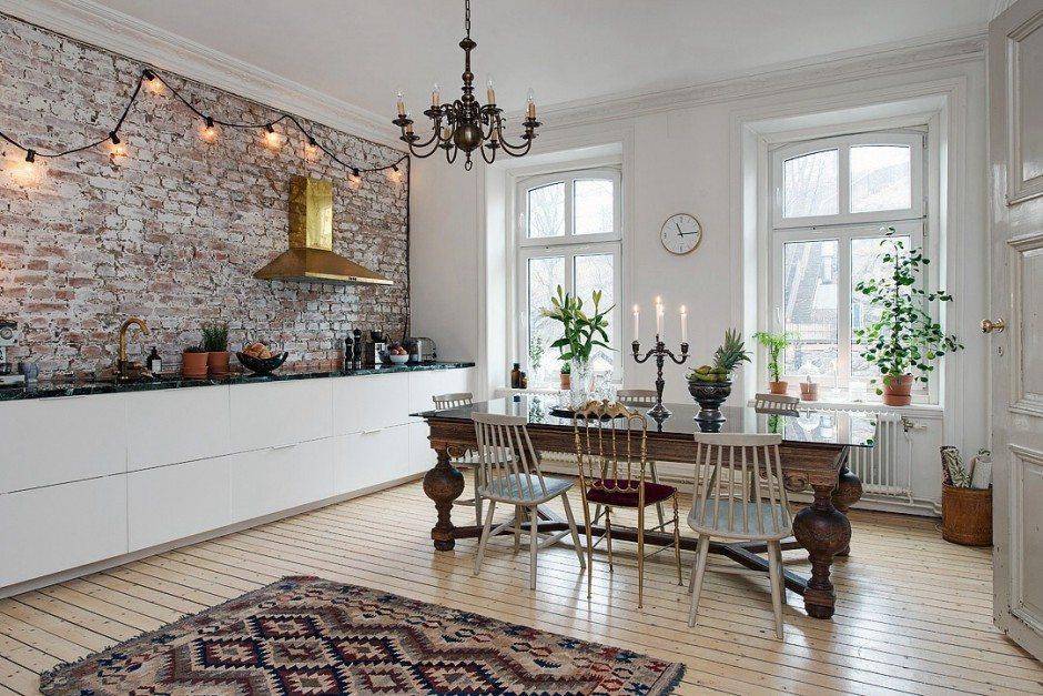 Mooie eclectische woonkeuken inrichting for Eclectische stijl interieur