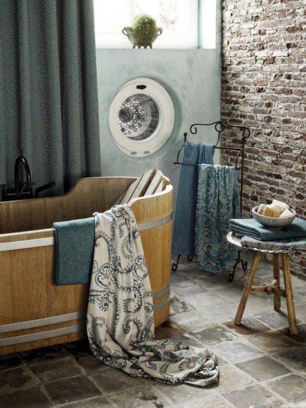 mooie gordijnen badkamer