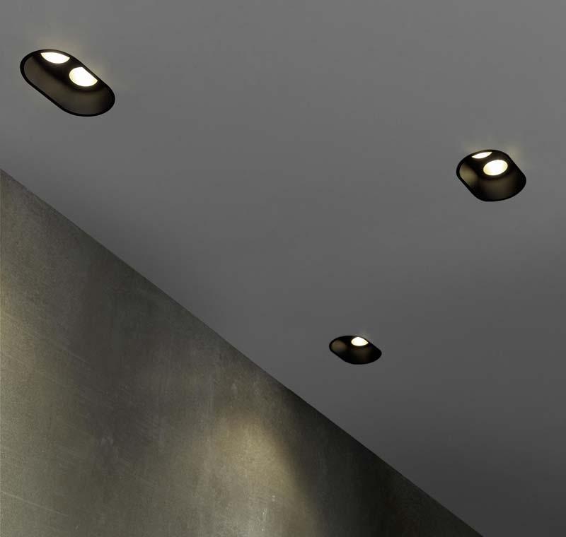 mooie inbouwspots decofix flos zwart dubbel
