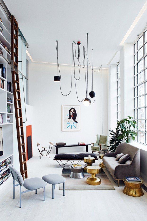 ... loft woonkamer ingericht met vintage meubels : Inrichting-huis.com