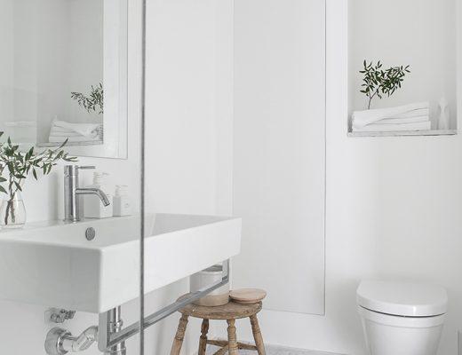 Mooie Scandinavische badkamer van 5,25m2