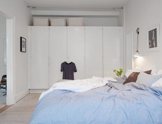 Mooie slaapkamer met inbouwkast