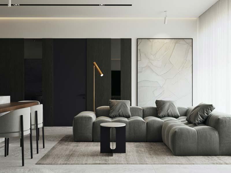 mooie vloerlamp moderne woonkamer