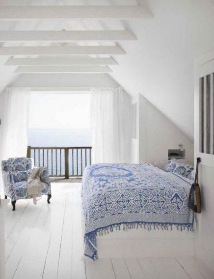 Mooie witte houten balken
