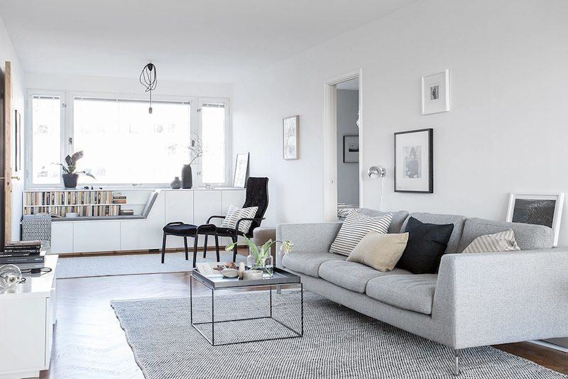 mooie woonkamer met de perfecte leeshoek