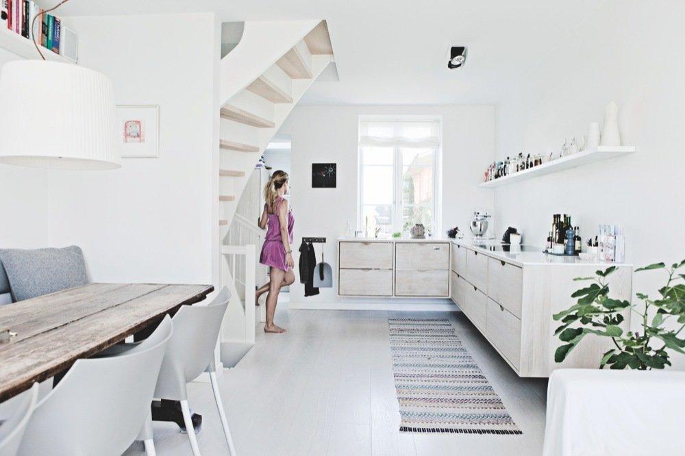 Mooie zwevende keuken van Christina en Claus