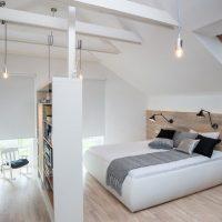 Slaapkamer indeling op zolder