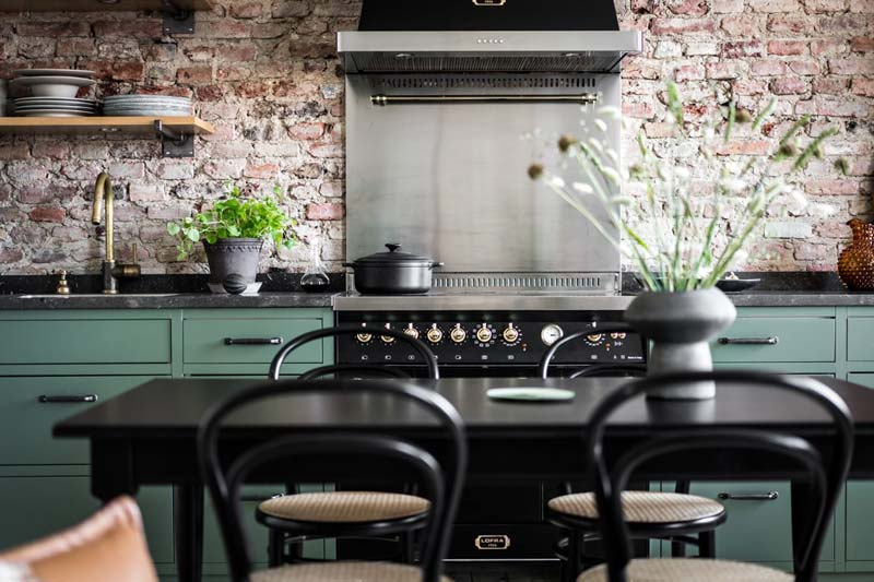mosgroene keuken