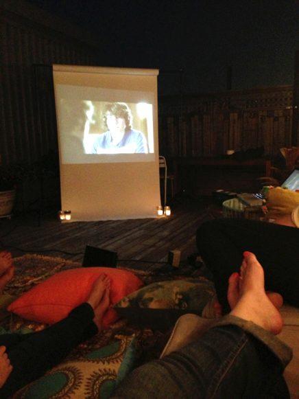 Movie night op het dakterras