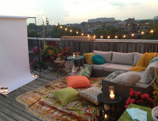 Movie night op het dakterras