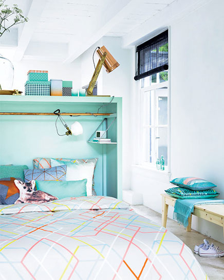 Multifunctionele roomdivider in de slaapkamer  Inrichting-huis.com