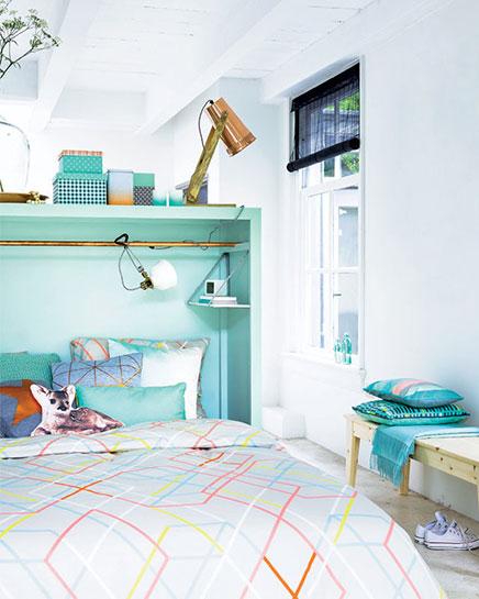 Multifunctionele roomdivider in de slaapkamer