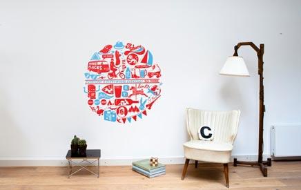 Stickers Ikea Meubels : Decals voor kura bed ikea tropische palm blad sticker set etsy