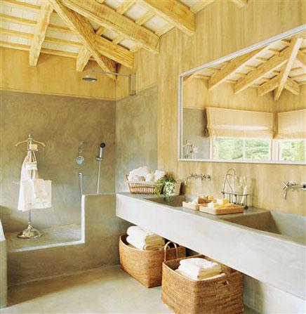 Natuurlijke badkamer ideeen | Inrichting-huis.com