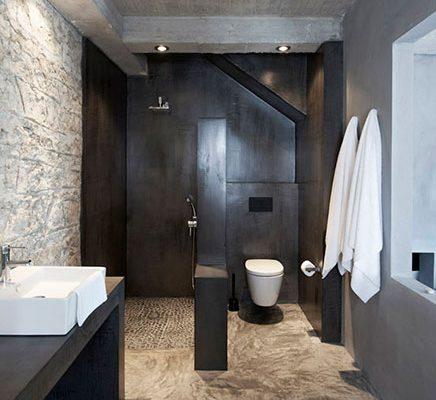 Natuurlijke badkamer van Villa Kalos