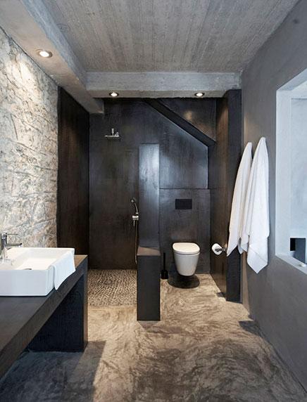 Natuurlijke badkamer van Villa Kalos | Inrichting-huis.com