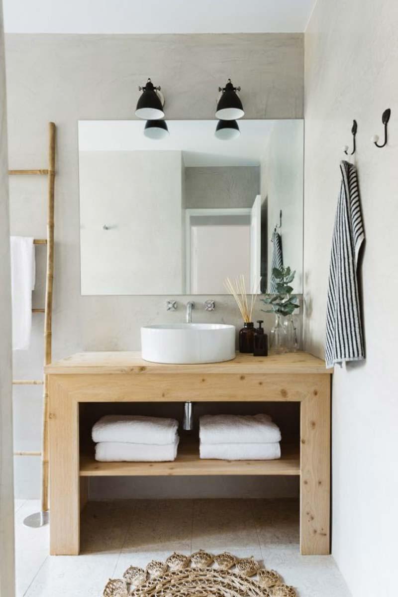 natuurlijke beton cire badkamer