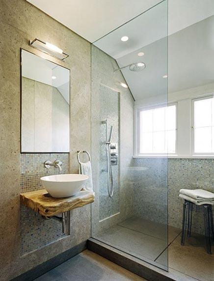 Natuurlijke badkamer in New York