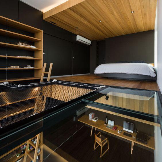 Netten als trap balustrade, scheidingswand of complete wand