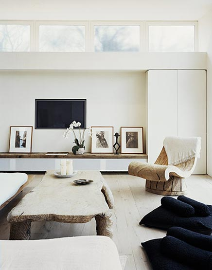 Neutrale kleuren van de inrichting van je huis