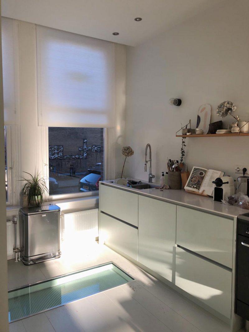 Nieuwe gordijnen in de keuken!