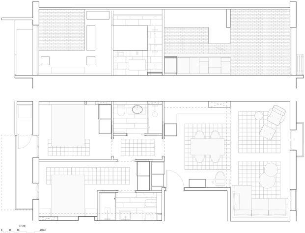 Nieuwe indeling appartement Barcelona