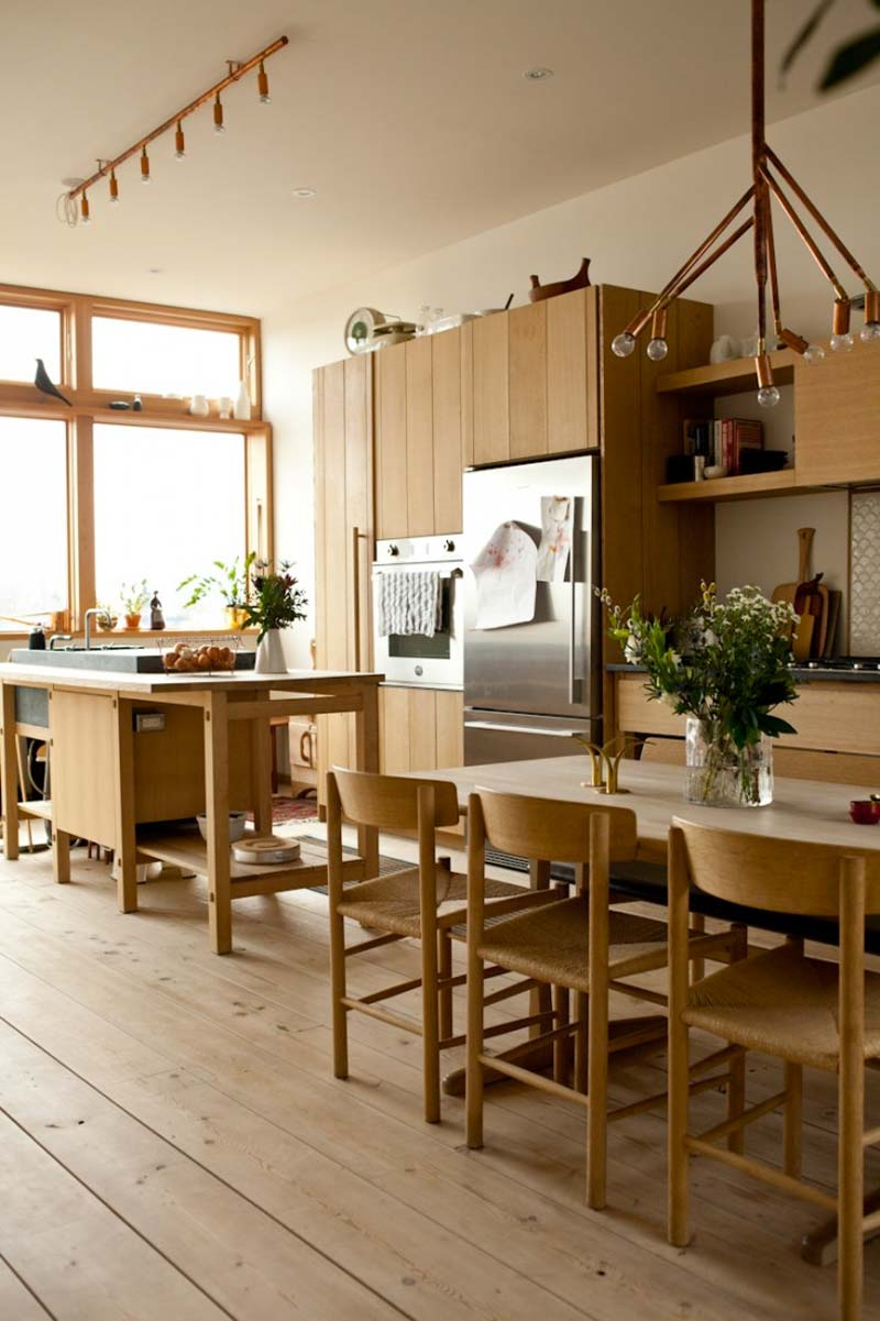 noorse houten keuken