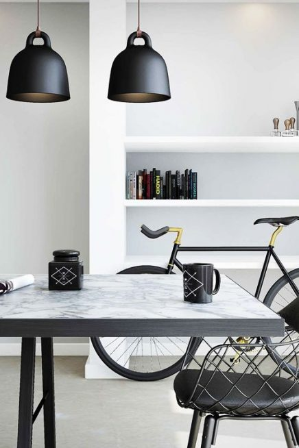normann copenhagen bell lamp inrichting. Black Bedroom Furniture Sets. Home Design Ideas