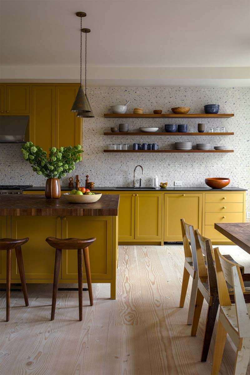 okergeel interieur okergele keuken