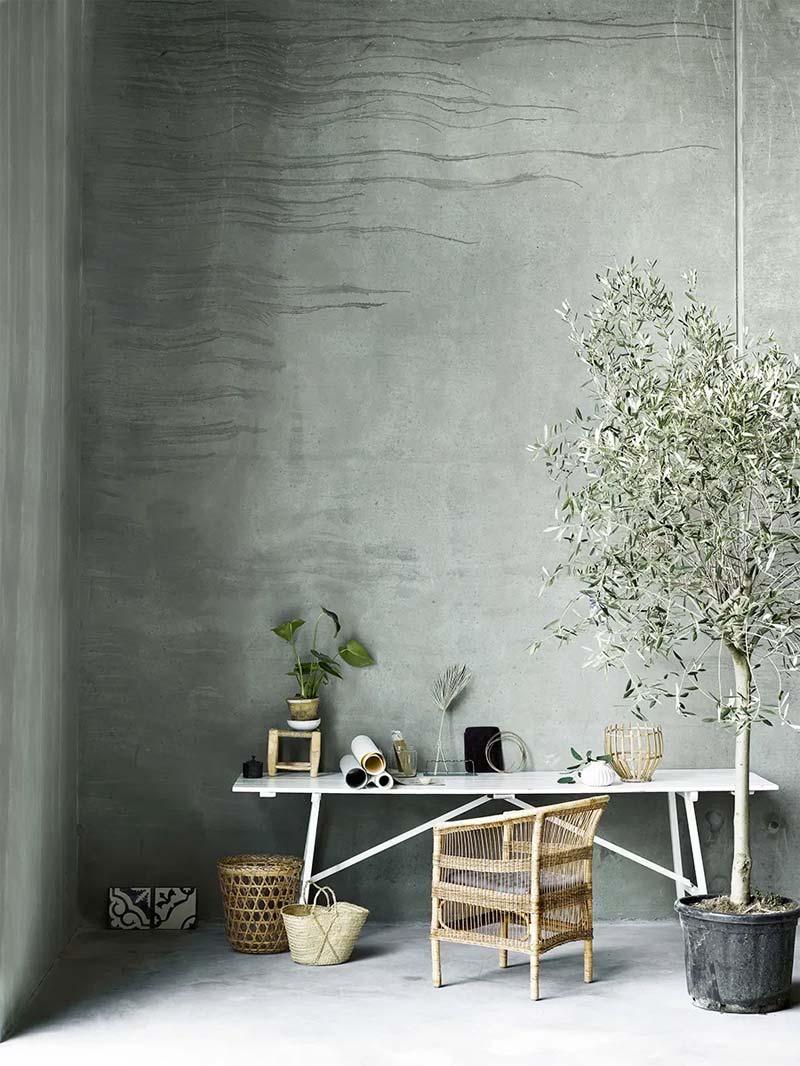 olijfgroen interieur olijfboom