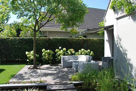 Onder architectuur aangelegde tuin in goirle inrichting huis