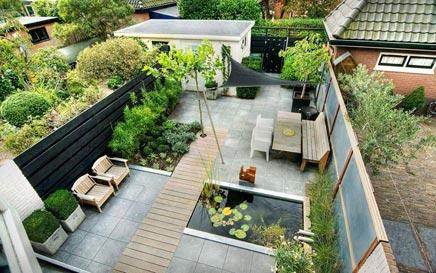 Onderhoudsvriendelijke sfeervolle tuin
