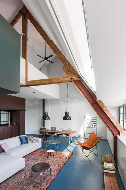 Ontwerp loft appartement oud schoolgebouw in Amsterdam