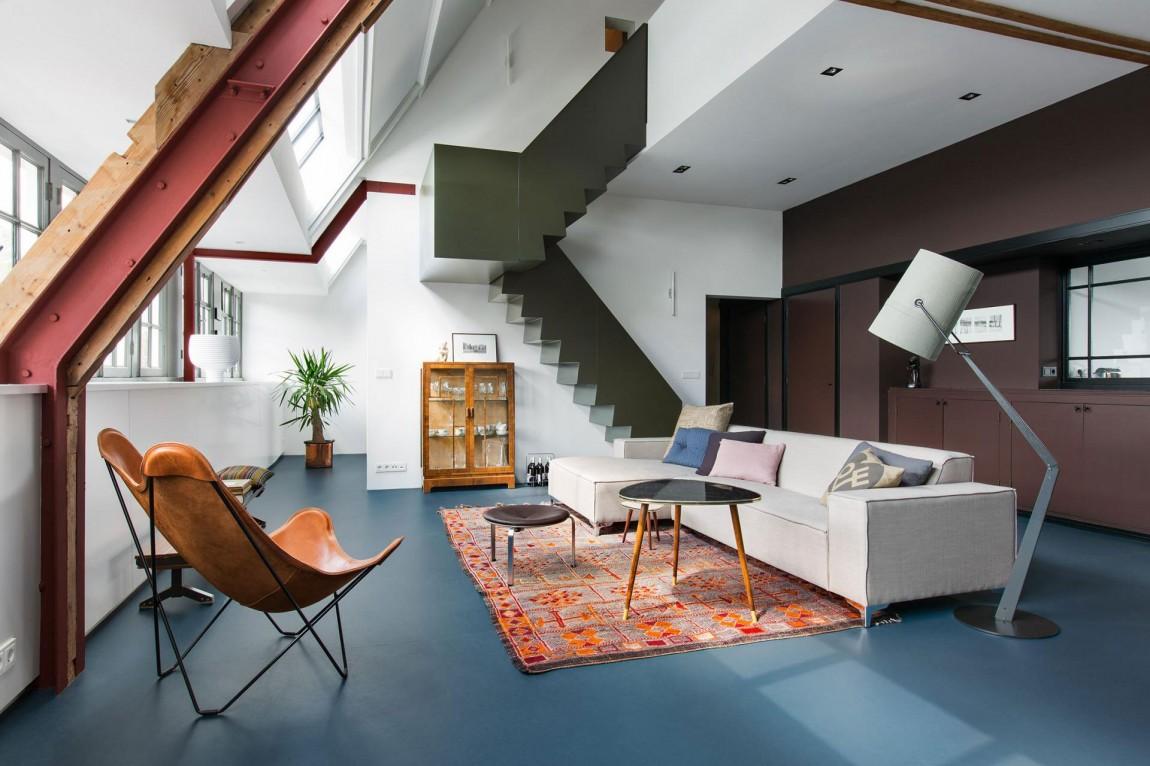 Ontwerp loft appartement oud schoolgebouw in amsterdam inrichting - Entree appartement ontwerp ...